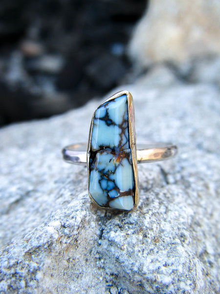 The Zivah Ring + Rare 7 Dwarfs Turquoise // Size 7.5