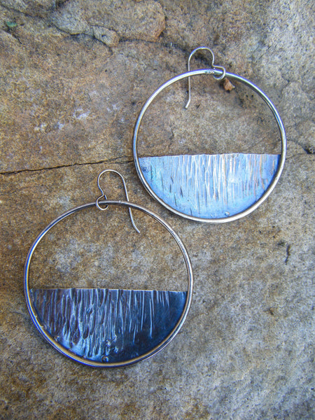 Soul Roots// Silver Tree Hoop Earrings// 925 Sterling Silver