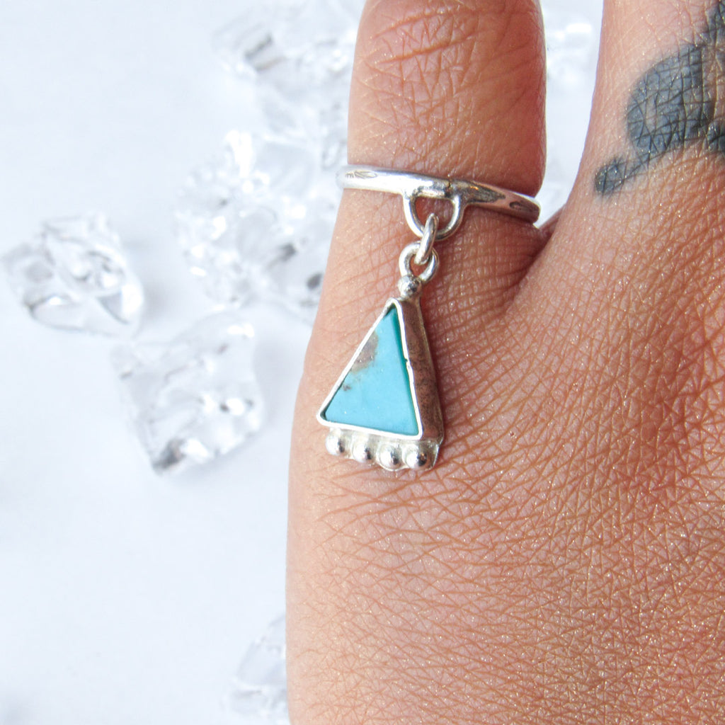 Turquoise Lover's Charm Ring+ ONE OF A KIND// SIZE 5