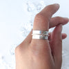 EARTHEN OLD WORLD + SILVER RING // Size 9