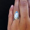 RAINBOW VISION RING + Moonstone // Size 6.75