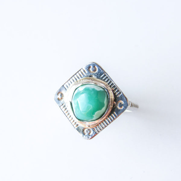 TEMPLE RING + Rare Turquoise// SIZE 7.75