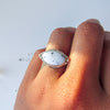 ELEMENTS RING + Dendritic Agate // Size 7
