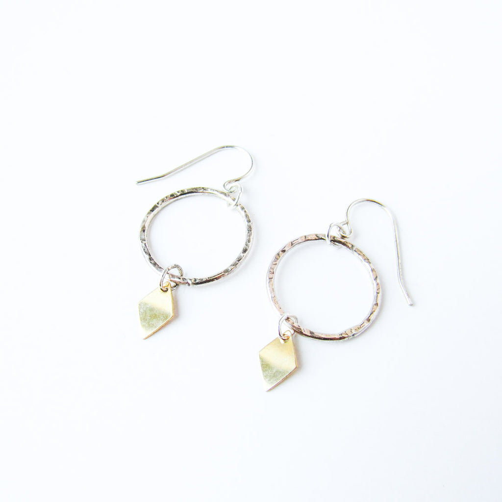 ATHENA Silver + Gold Hoop Earrings // One of a Kind