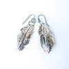 Romantic Metal Feather Earrings // One of a Kind