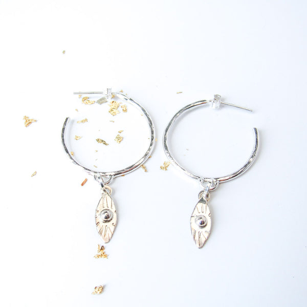 Classic Evil Eye Amulet Earrings // Hoops