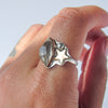 STARS AND DREAMS + Raw Quartz Mixed Metals Ring // Size 7