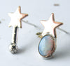 STARRY EYED Asymmetrical Opal Studs // One of a Kind