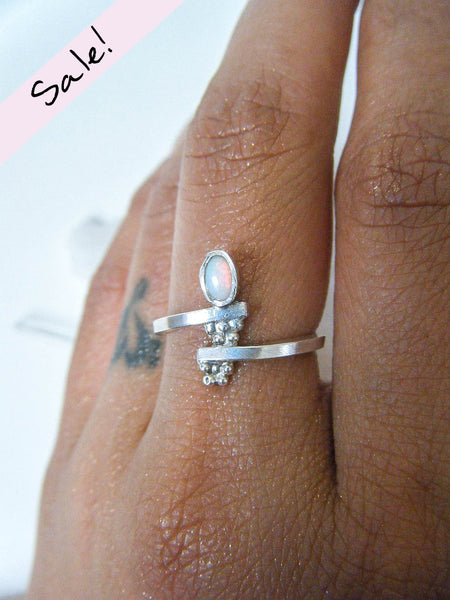 NEW TO SALE! Opal Lover's Ring Size 7.5 // One Of a Kind Wearable Art
