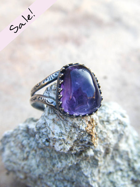 NEW TO SALE! Magic Relic// Artisan Amethyst Ring Size 8