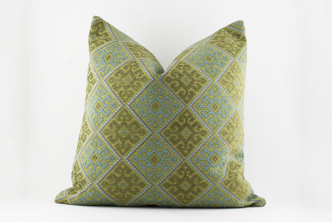 Geometric Heavy Quilted Pillow