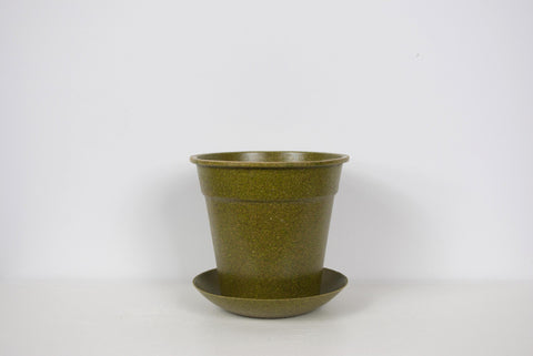 EcoForms Growers Pot w/ Saucer Tray Moss