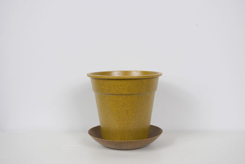 EcoForms Growers Pot w/ Saucer Tray Umber
