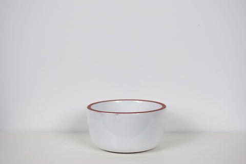 Terra Cotta Bowl w/ White Glaze