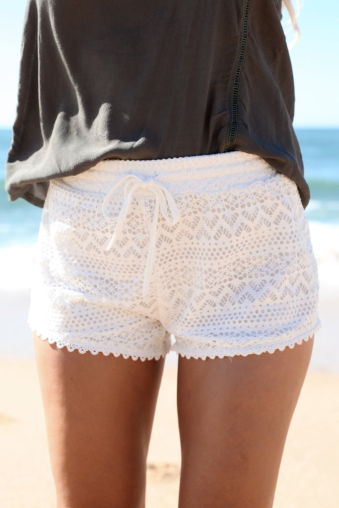 Hippie Lace Crochet Shorts
