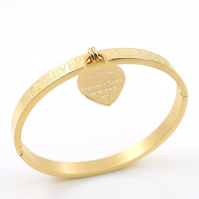 Forever Love Bangle - Gold