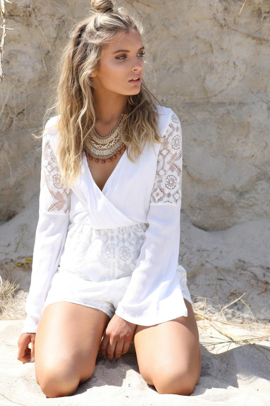 Dream Of Me Lace Playsuit