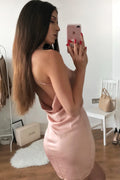 Morning Light Silky Mini Dress - Blush