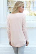 Timeout V-Neck Knit - Blush