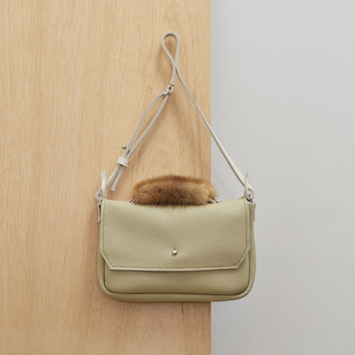 Shoulder Bag - Bone and Mink