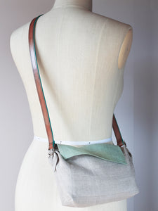 Linen Cross Body Bag