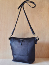 Fold Top Bag - Black