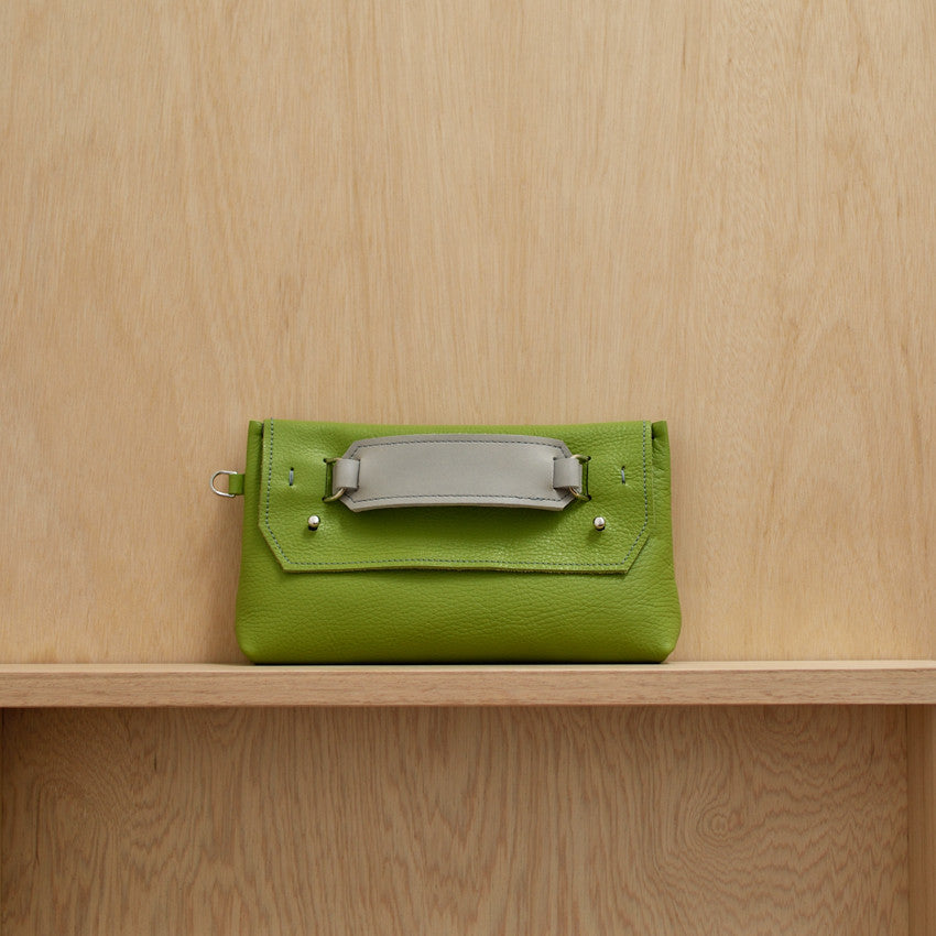 Clutch Bag - Apple Green
