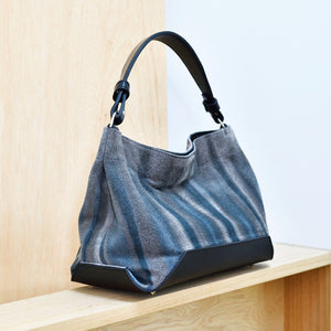 DoBo HoBo Handbag - Indigo Grey