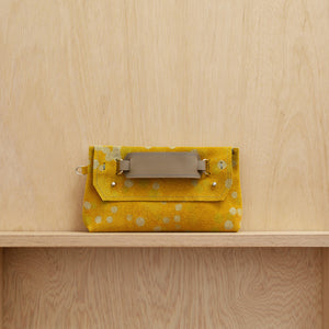 Clutch Bag - Canary Yellow Spot Dye