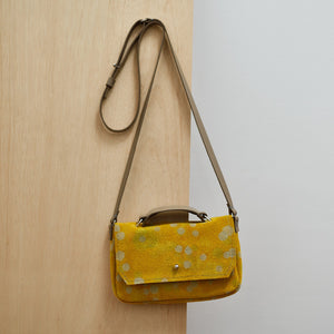 Cross Body Bag - Canary Yellow Spot Dye