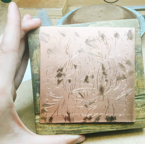 Engraving day 2 burnishing