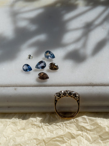 Pear Shaped Sapphires and Diamonds