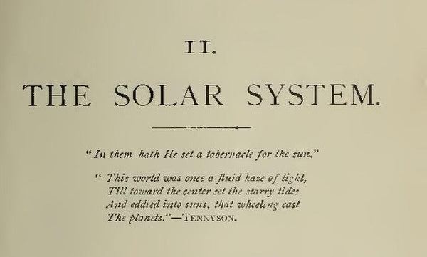 The Solar System from an 19th century book