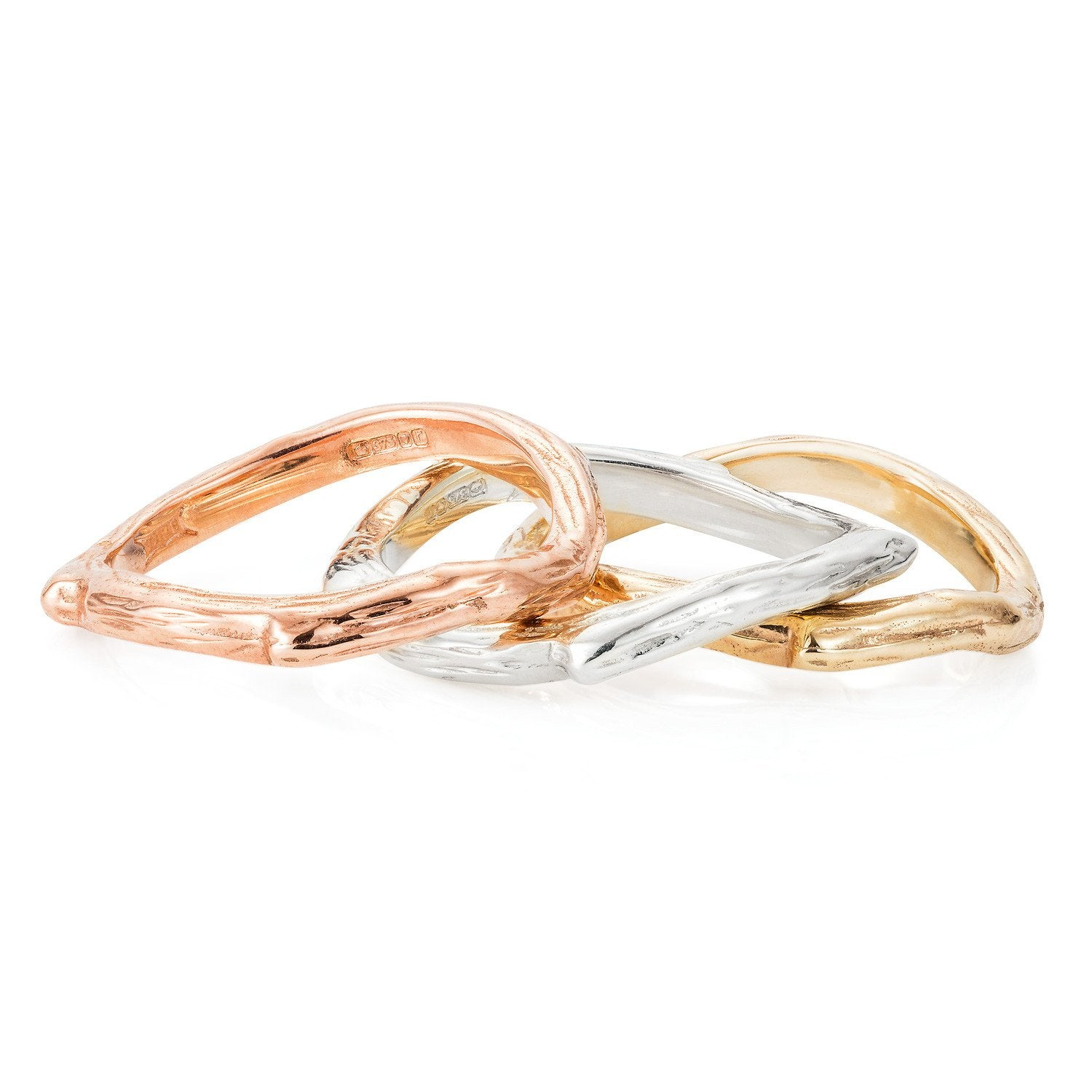9ct Gold Twig Ring by Yasmin Everley