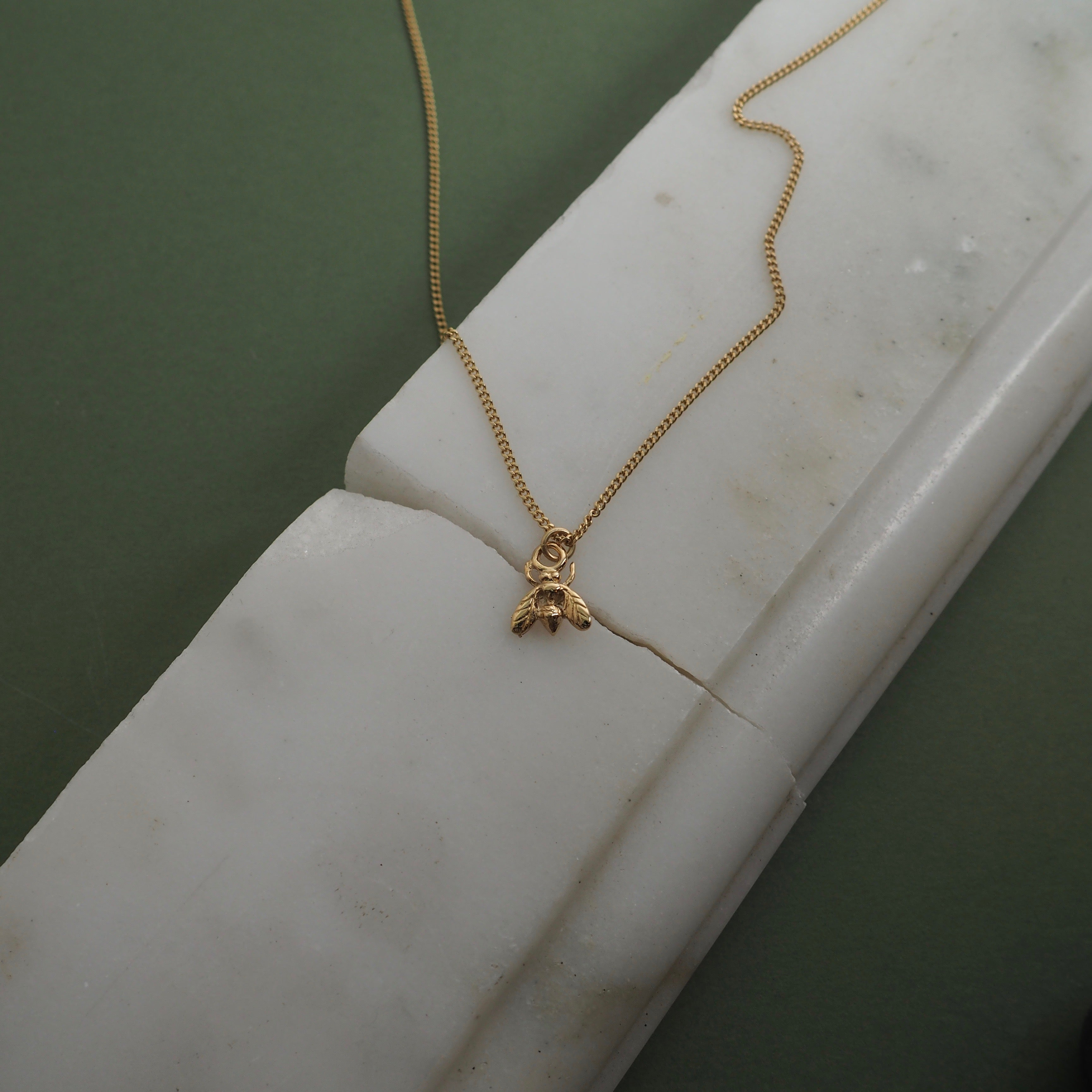 9ct Gold Little Fly Necklace by Yasmin Everley