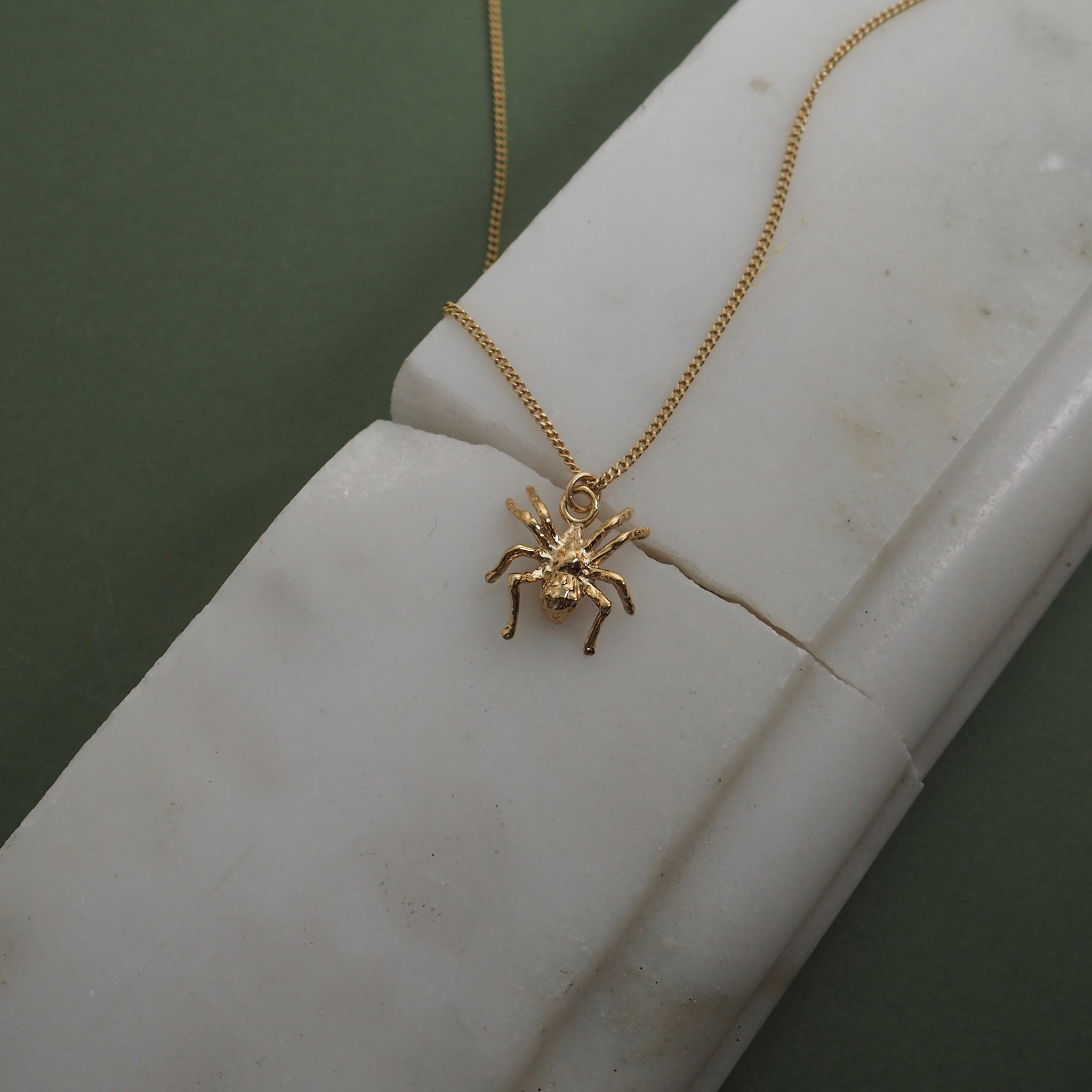 9ct Gold Little Spider Necklace by Yasmin Everley