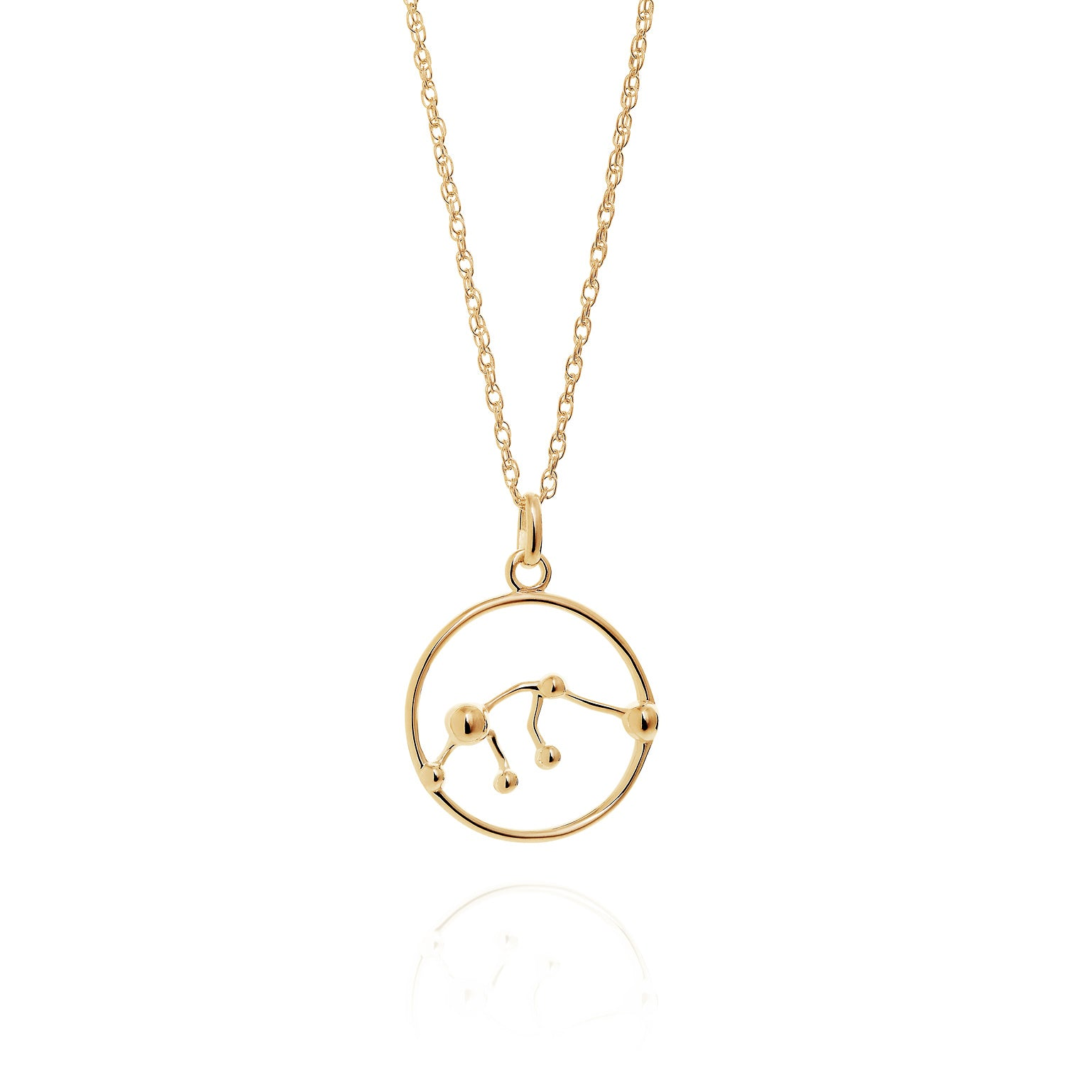 Gold Aquarius astrology star sign Necklace