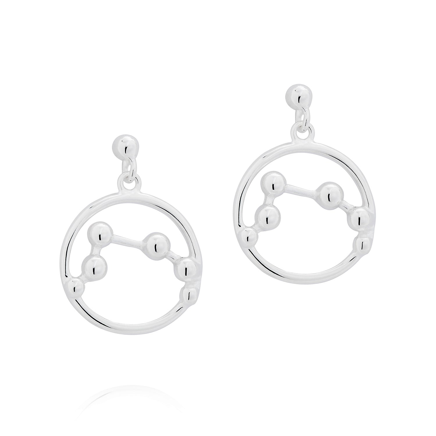 Star Sign Silver Earrings by Yasmin Everley