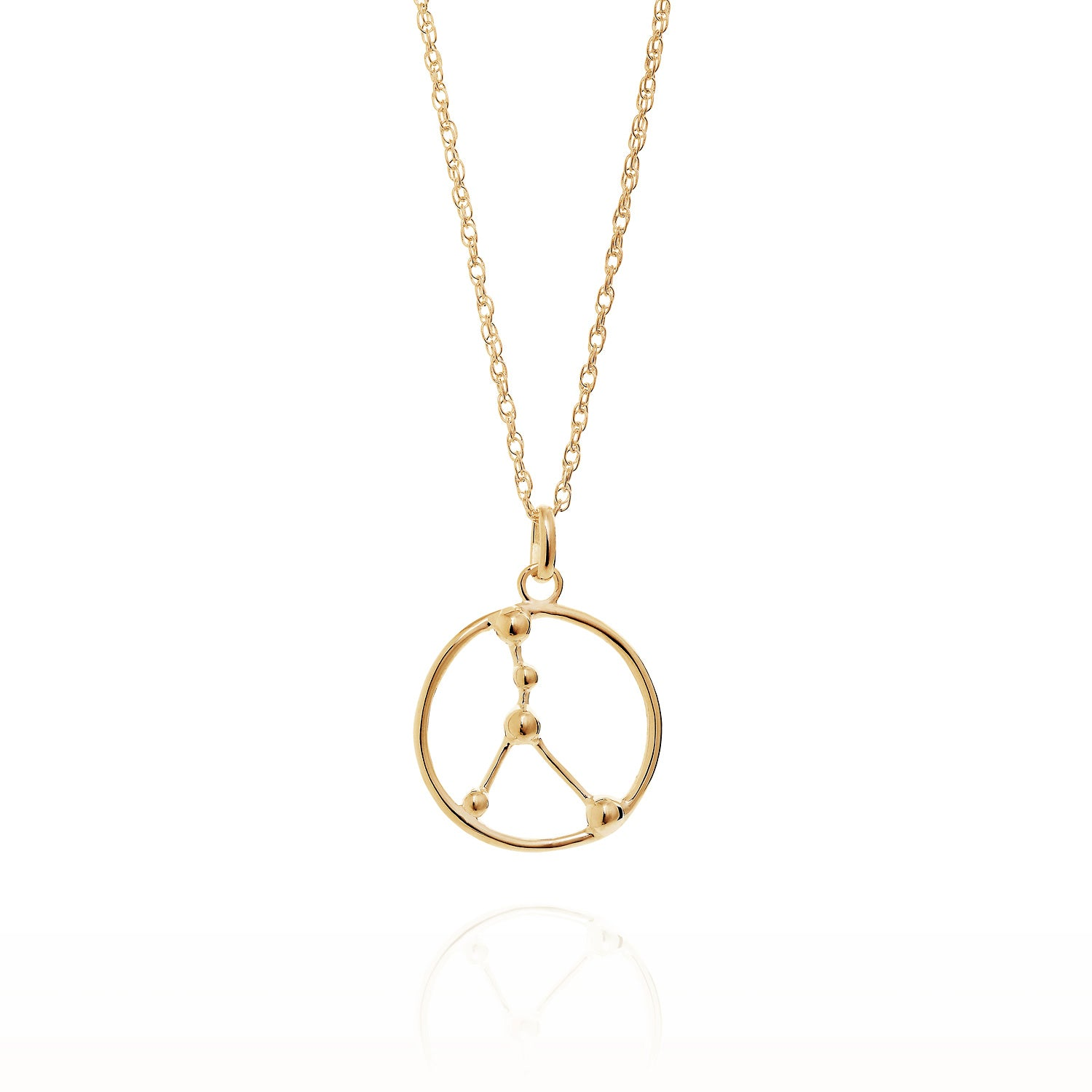 Gold Cancer astrology star sign Necklace
