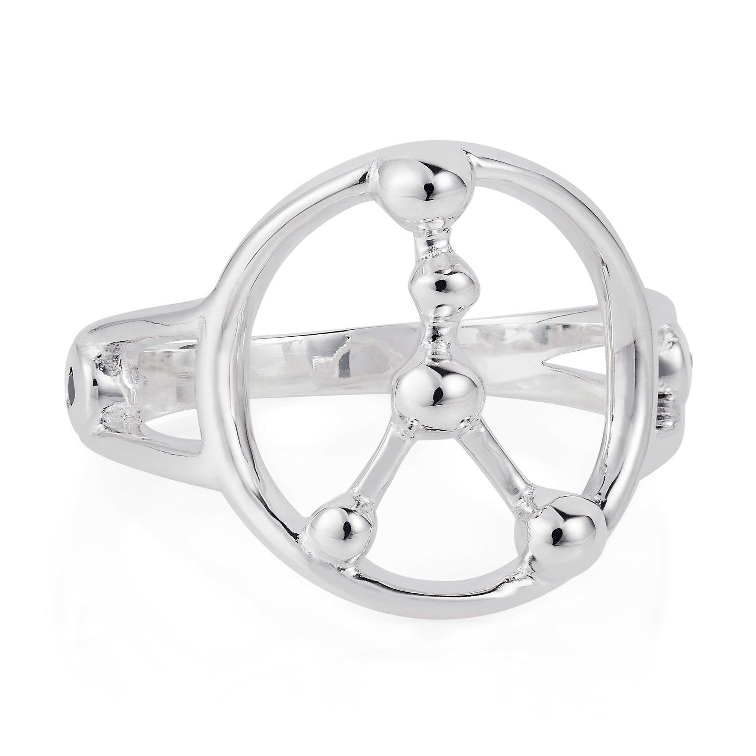 Star Sign Constellation Silver Ring by Yasmin Everley