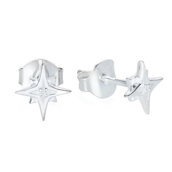 Compass Star Ear Studs