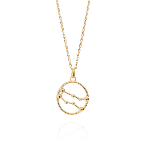 Gold Gemini Astrology Necklace