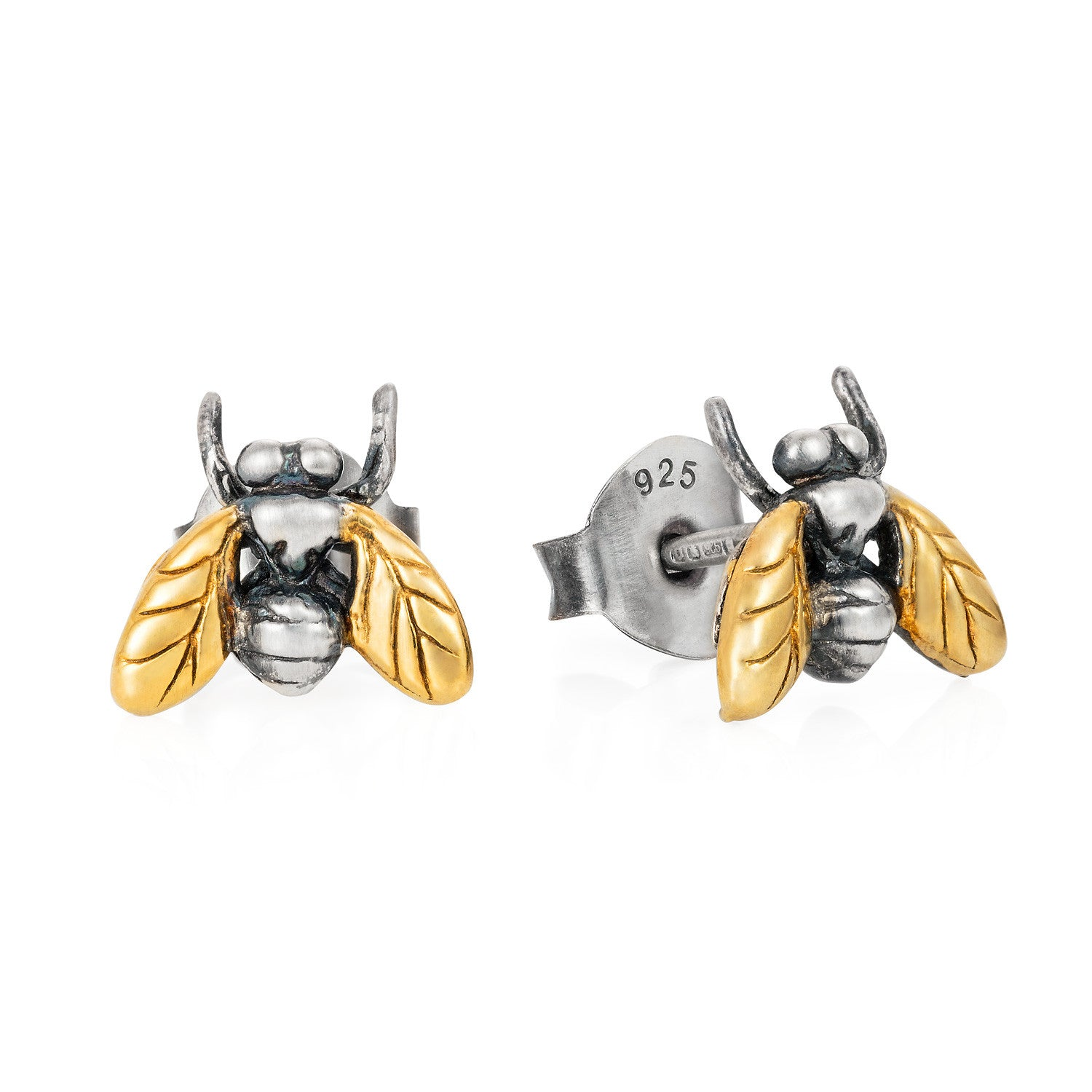 Gilded Little Fly Stud Earrings