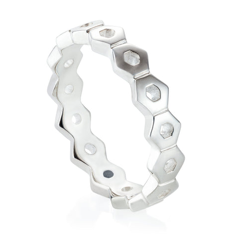 Silver Honeycomb Ring