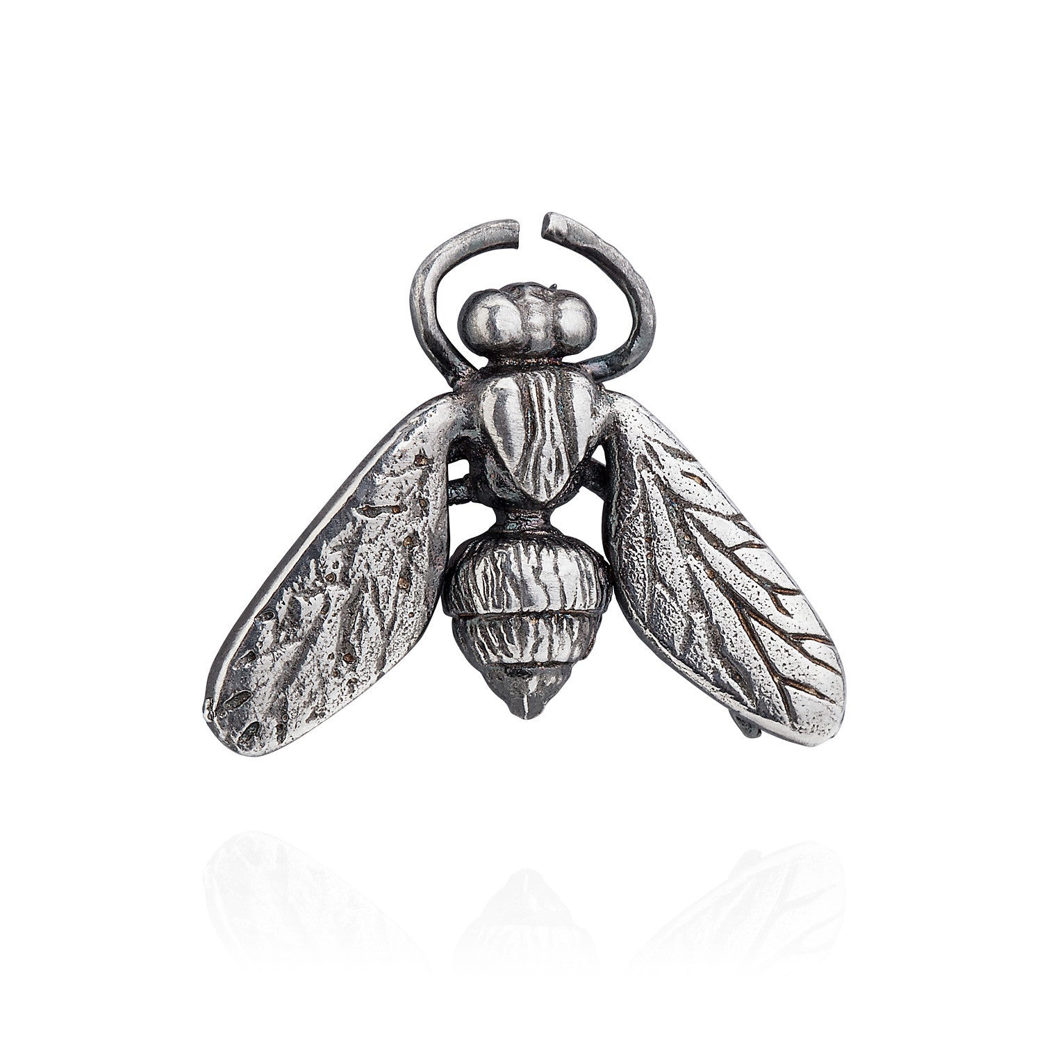 Dark Silver Hoverfly Lapel Pin