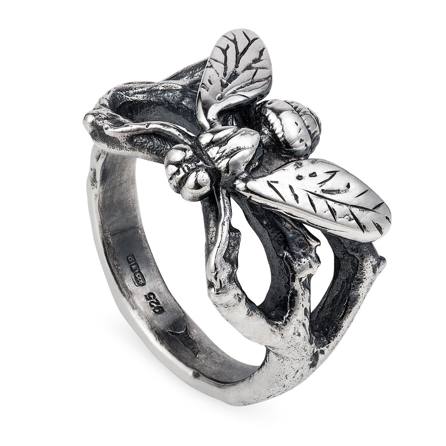Dark Silver Hoverfly Ring
