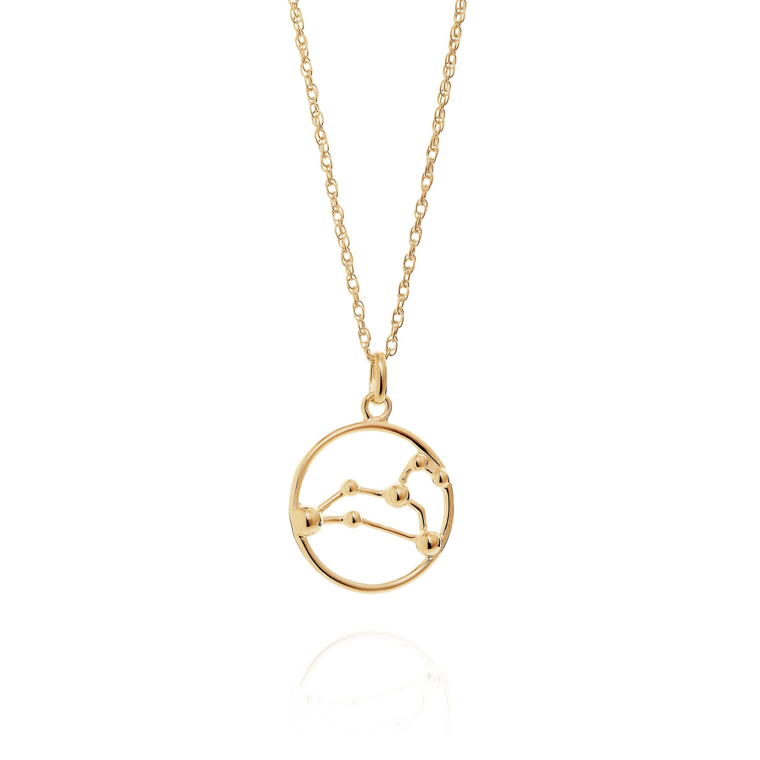 Gold Leo astrology star sign Necklace