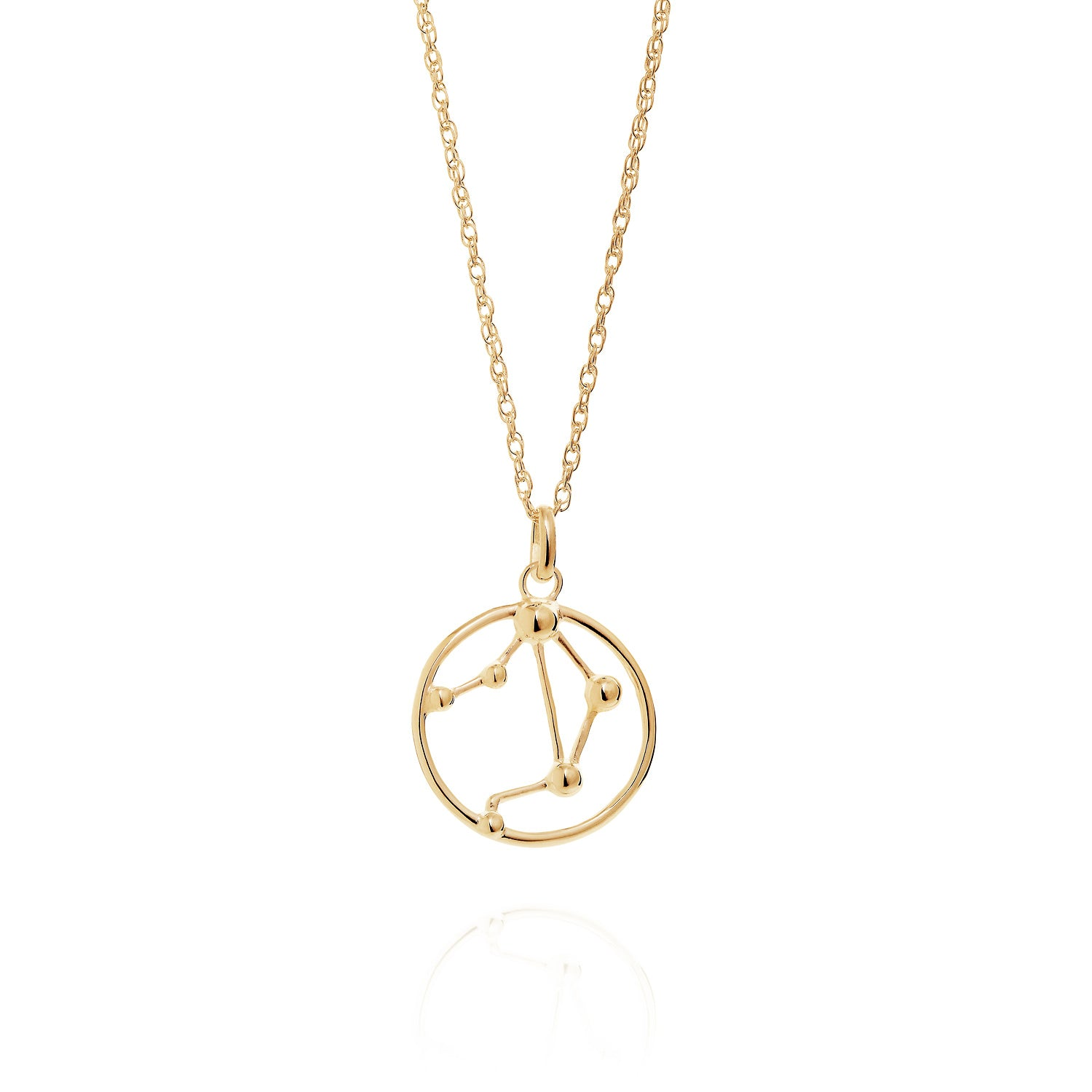 Gold Libra astrology star sign Necklace
