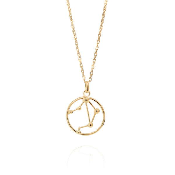 Gold Libra Astrology Necklace