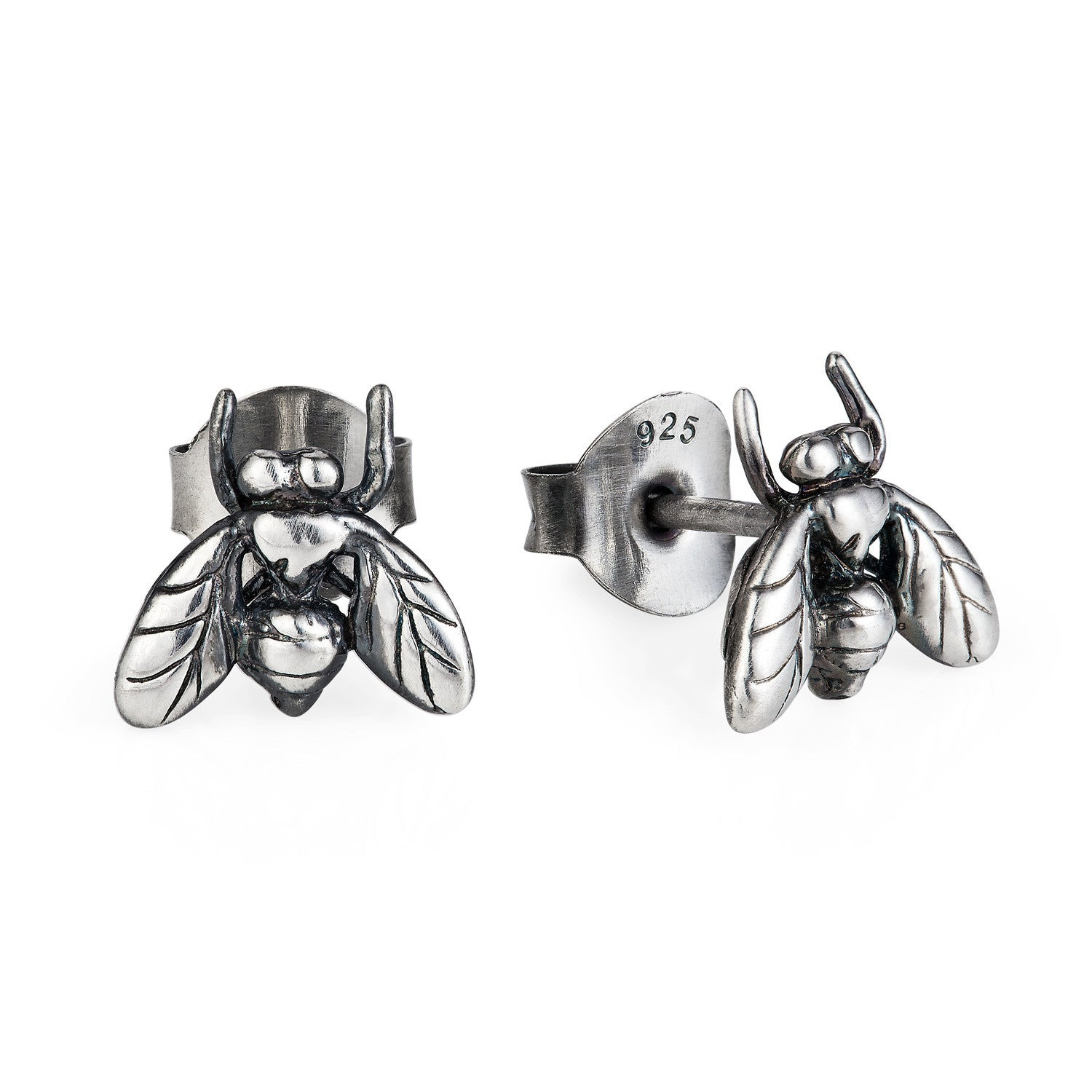 Dark Silver Little Fly Earrings